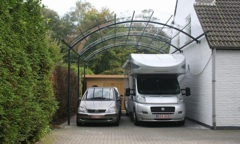 stal je mobilhome veilig met een duurzame carport bozarc. Black Bedroom Furniture Sets. Home Design Ideas