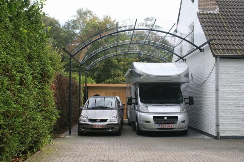 Tous les avantages d 39 un carport en aluminium bozarc - Carport alu belgique ...