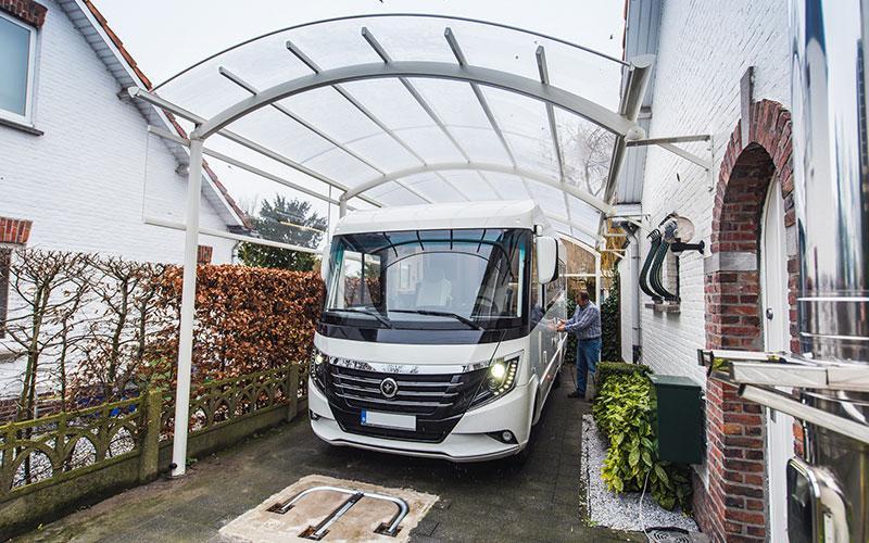 carports voor je auto mobilhome caravan op maat bozarc. Black Bedroom Furniture Sets. Home Design Ideas