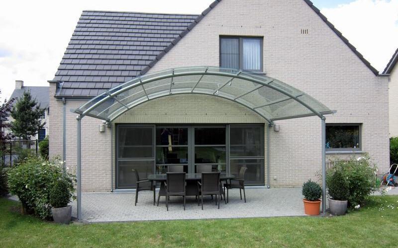 Un auvent de terrasse design au meilleur prix bozarc - Auvent transparante terras ...
